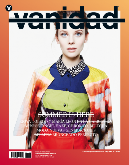 Anouk de Heer in Vanidad Magazine July/August 2014