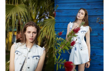 Claire de Regge in Summer Denim for El Corte Ingles
